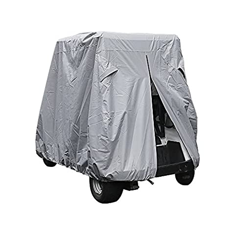 "Ohmotor Golf Cart Cover Universal Waterproof Sun Dust Proof Electrical / Gas Golf Cars Cover, Fits for Enclosure Club Car, EZGO, Yamaha Drive (S Size: 95"" X 48"" X 66"", - Top Fuel Exhaust"