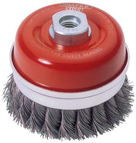 Draper 52633 Expert 100Mm X M14 Twist Knot Wire Cup Brush