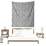 EwaskyOnline1 Abstract Wall Tapestry for Bedroom Scandinavian Pattern with Lines Geometrical Greyscale Design Simplistic Home Decorations for Bedroom Dorm Decor 70W x 84L INCH Black Grey White