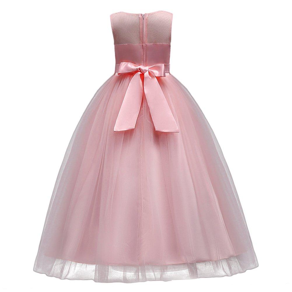 Vestido de Niña Baile Pageant de de Flores la Boda Vestidos de Dama ...