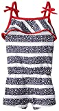 The Children's Place Baby Girls' Stars and Stripes Romper, Tidal, 9 12 Months