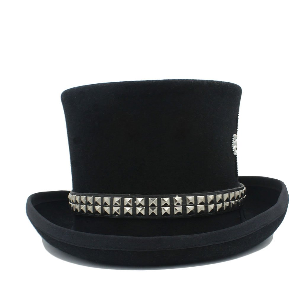LL Women's Steampunk Top Hat Steam Punk Fedoras Top Hat Topper (Color : Black, Size : 59CM) by LL (Image #5)