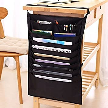 Chris Wang 1Pack Multifunctional Adjustable Desk Side Hanging Bag 10 Slot  Oxford Fabric File