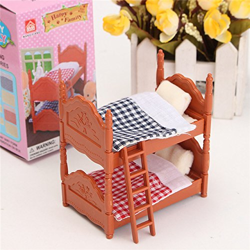 (Miniature Dollhouse Bed - 1 Piece DIY Miniatures Dollhouse Fluctuation Bed Acessories Sets For Mini Doll House Miniatures Furniture Toys Gifts For Children)