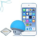 Apple iPod touch Blue 32GB (6th Generation) - Mushroom Bluetooth Wireless Speaker/Ipod Stand - Quality Photo cloth (2015 itouch)