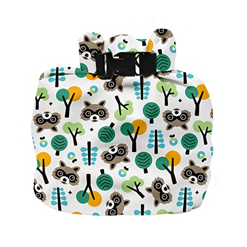 Bambino Mio, wet diaper bag, raccoon retreat