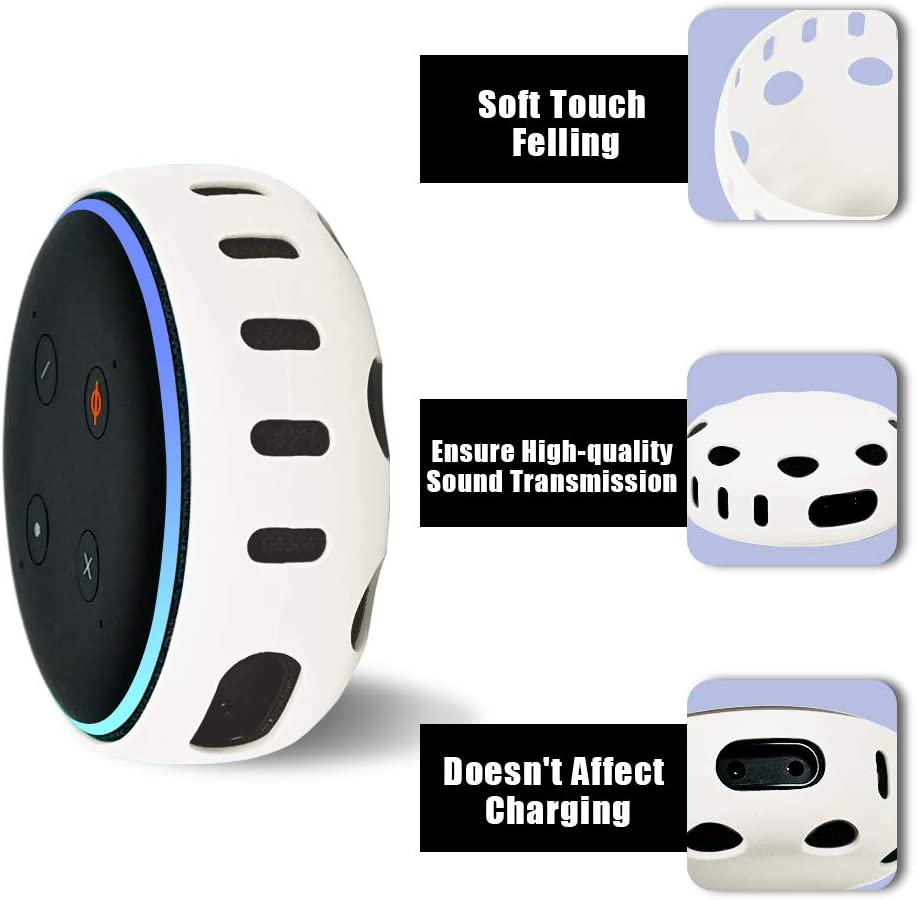 3rd Gen Silicone Cover for All-New Echo Dot Turquoise