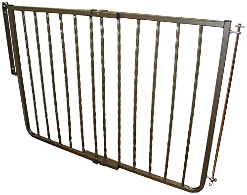 Cardinal Gates Steel Wrought Iron Decor Gate, Bronze