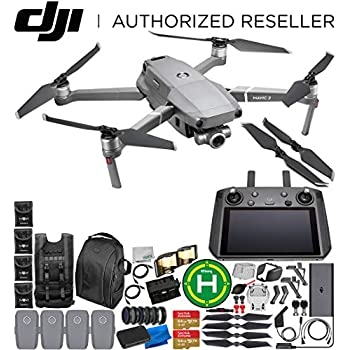 DJI Mavic 2 Zoom Drone Quadcopter with 24-48mm Optical Zoom Camera with Smart Controller Ultimate 4-Battery Bundle 1