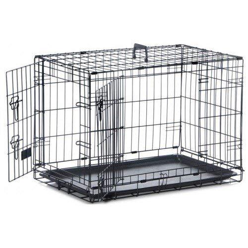 Medium 76x48x53cm Safe 'n' Sound Black 2 Door Dog Crate 4 (Medium 76x48x53cm)