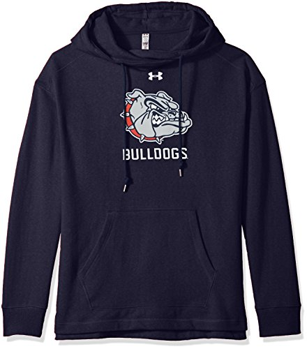 Under Armour NCAA Gonzaga Bulldogs Women's Pull-Over Fleece Hoodie, X-Large, Navy