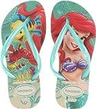 Havaianas Slim Flip Flop Sandals, Toddler/Child, Princess,Beige/Green,27-28 BR (11-12 M US Little Kid)