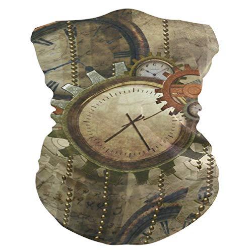 Steampunk Clocks And GearsHeadband Womens Bandana Mens Balaclava,Neck Warmer,Face Mask,Neckerchief Facemask