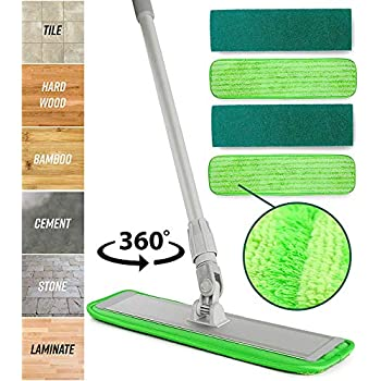 Amazon Com Simplee Cleen Microfiber Swivel Household Mop