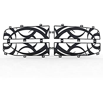 1994-2002 Dodge Ram 2500 TRK-114-08-Black-b Ferreus Industries Grille Insert Guard Tribal Black Powdercoat fits