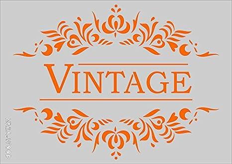 Plantilla para manualidades, diseño vintage, tamaño A5, 148 x 210 mm: Amazon.es: Oficina y papelería