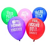 Echolife 12 Inch Abusive Party Balloons Premium Latex Balloons Assorted Color (25 Pcs) for Party Favor Supplies