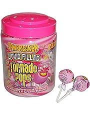 Zed Candy Strawberry and Cream Flavor Tornado Pop Bubble Gum - 34 g