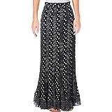 Diane Von Furstenberg Womens Addyson Silk Floral Print Maxi Skirt B/W 4