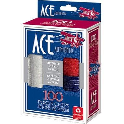 Cartamundi 1510 Ace Plastic Poker Chips 100 Count