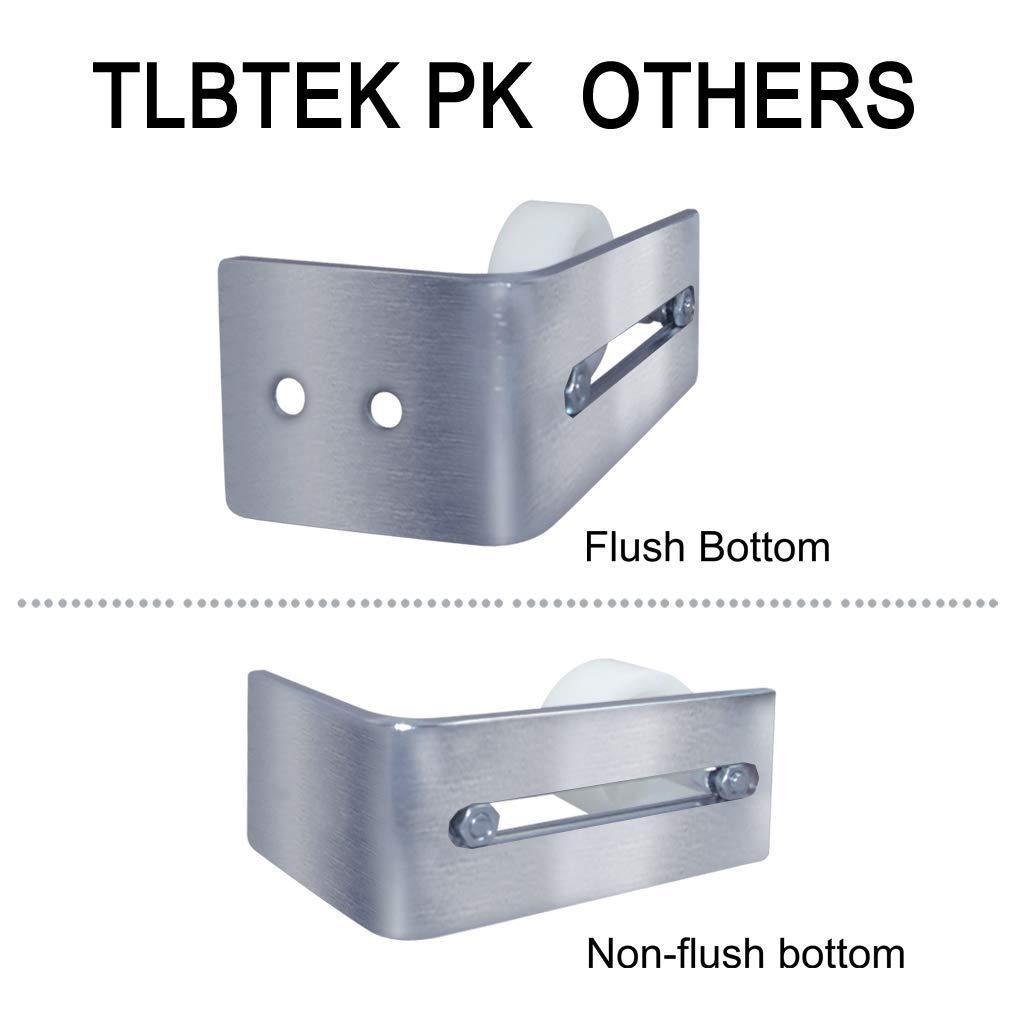 TLBTEK Guide au sol pour porte de grange en acier inoxydable Fixation murale