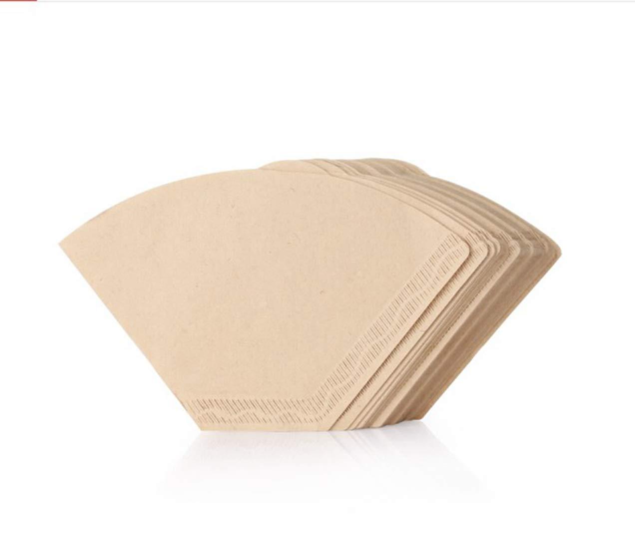 WEATLY Kaffeefilterpapier Primärfarbe 100 Teile/Beutel Tropfpfanne 102 (Color : Aprikosen)