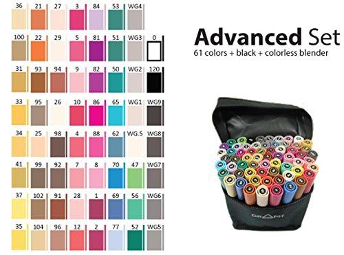 Graphmaster Grafikmarker 63er Advanced Set Box Grafik Design Marker Pens ()