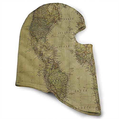 Xukmefat Mapa del Mundo Máscara Facial a Prueba de Viento ...