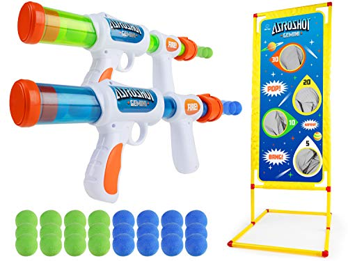 USA Toyz Astroshot Gemini Shooting Games - Foam Ball Popper Guns and Shooting Targets, Toy Guns for Kids 2pk with 24 Foam Balls