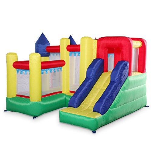 - LAZYMOON Inflatable Bounce House Castle Children Play Jumper Moonwalk Bouncer Without Blower