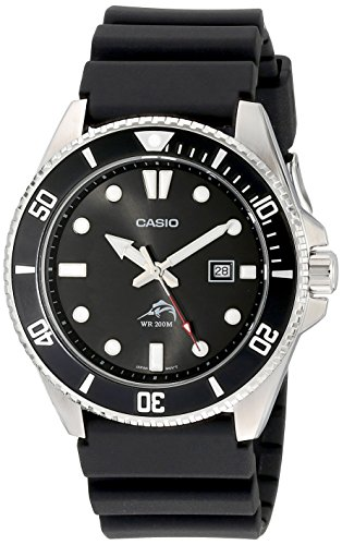 Casio Men's MDV106-1AV 200M Duro Analog Watch, Black (Band Bezel Wrist Watch)