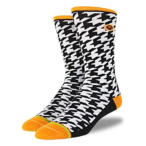 Mitscoots Men's Houndstooth Crew Dress Socks