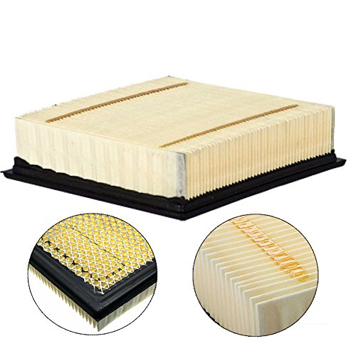 Carrep FA1883 Square Shaped Extra Guard Panel Air Filter Replacement for Ford F-150 Expedition Lincoln Navigator