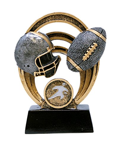 - Decade Awards Football Halo Trophy - Gridiron Award - 5 Inch Tall - Engraved Plate on Request