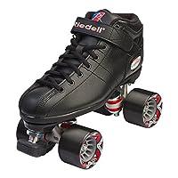 Riedell Skates - R3 - Quad Roller Skate para interiores /exteriores | Negro | Tamaño 10