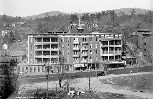 Hot Springs Arkansas Hotels (1900 The Avenue Hotel, Hot Springs, Arkansas Vintage Photograph 11