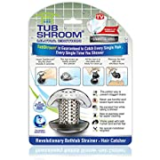 TubShroom Ultra Revolutionary Bath Tub Drain Protector Hair Catcher/Strainer/Snare Steel, Stainless Single Pack