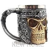 SMKF 3D Stainless Steel Skull Mug