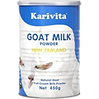 Karivita 新西兰进口全脂羊奶粉成人 青少年学生中老年高钙纯山羊奶粉450g(18年11月新鲜日期)