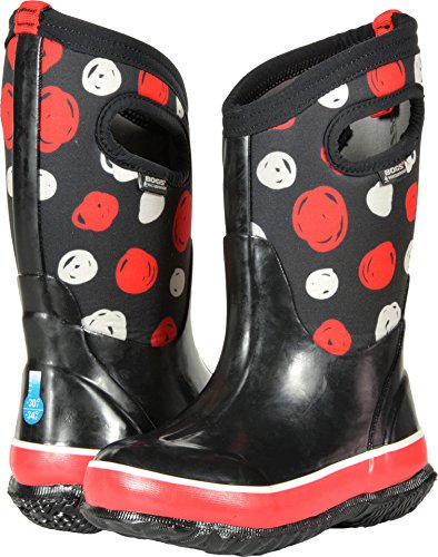 Price comparison product image Bogs Classic High Waterproof Insulated Rubber Neoprene Rain Boot Snow,  Sketched Dots Print / Black / Multi,  13 M US Little Kid