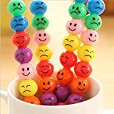 Toys Toys - 3pcs Plastic Diy Cartoon Crayons Creative Sugar Coated Haws Smiley Graffiti Pen...