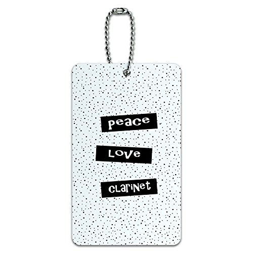(Peace Love Clarinet ID Tag Luggage Card Suitcase Carry-On)