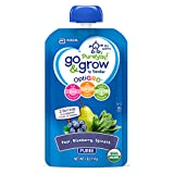organic similac - Go & Grow by Similac Fruit and Veggie Pouches with OptiGRO, Pear, Blueberry, Spinach Puree, For 6+ Months, Organic Baby Food, 4 ounces, Pack of 12
