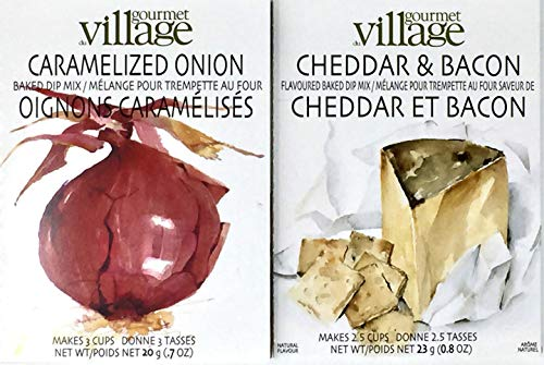Gourmet du Village Dip Duo - Caramelized Onion Baked Dip Mix and Cheddar & Bacon Baked Dip Mix