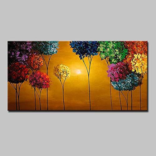 6080cm  JINTAIYANG Peinture à l'huile Peinture à l'huile Peinte à La Main -Fleur Plante Moderne Toile Peinture Art Mur Chambre Bureau à Domicile Décoration