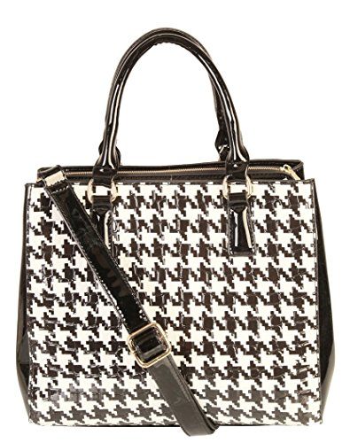 rimen-co-shiny-patent-pu-leather-hounds-tooth-pattern-multi-spaced-tote-womens-purse-handbag-qn-2818