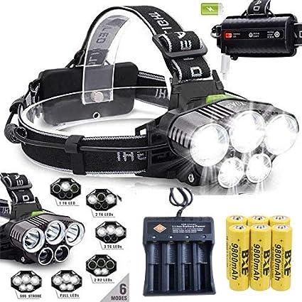 SUPER BRIGHT 30000LM LED Headlamp Headlight Flashlight Head Torch Camping NEW