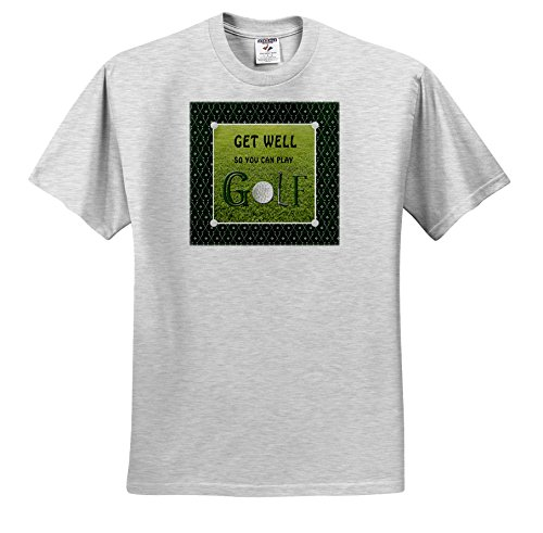 Beverly Turner Get Well Design - Get Well So You Can Play, Golf Ball is The O, Golf Club is The L - T-Shirts - Youth Birch-Gray-T-Shirt XS(2-4) ()