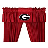 Georgia Bulldogs 5 Pc Valance/Drape Set (Drapes Size 82 X 63) and Matching Wall Flag - Great Bedroom Matching Accessories for that Special Sports Fan!
