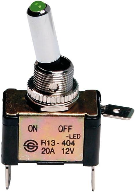 Interruttore a leva 2 contatti auto tuning LED BLU 12V 20A Pilot